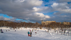 Snowmen, Aviators park, Saint-Petersburg (pilot3ddd) Tags: winter snowmen saintpetersburg sunnyday olympuspenepl7 panasoniclumixg1232 aviatorspark