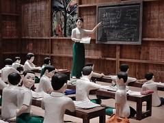The Sick Classroom (mikecogh) Tags: children goma exhibit brisbane teacher myanmar burmese blackboard realistic apt8 ngelay galleyofmodernart thesickclassroom 8thasiapacifictriennialofcontemporaryart