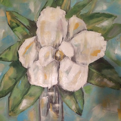Southern Magnolia (Art by Trish Jones (theOldPostRoad)) Tags: flowers flower art floral painting georgia jones artist blossom trish large southern madison magnolia vase