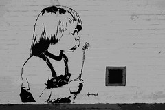 Acton Street Art by Leonard (tim constable) Tags: city uk family england urban streetart london wall children stencil mural view culture scene dandelion leonard scape residential neighbourhood acton stik timconstable