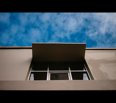 lookinUp (r_if) Tags: blue cloud window cinematic olympusep1 lumix20mm17