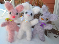 Bunch o' bunnies (La Belle Province) Tags: bunnies knitting fuzzy mohair etsy snowbunny