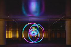 (Leo Hernn) Tags: light night star iceland backyard surreal reykjavik burning midnight mm juggling nikkor psychedelic 35 hunt hypnotic