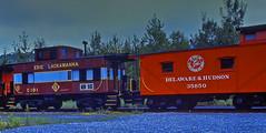 Erie Lackawanna and Delaware & Hudson Cabooses (2 of 3) (gg1electrice60) Tags: blue red maroon tracks pa railcar dh bo erie july4th jimthorpe lackawanna julyfourth railroadtrack baltimoreandohio route209 delawareandhudson carboncounty countyseat coupla jimthorpepa us209 bluemountainreadingrailroad woodcaboose readingnorthern independencedaytrip railfanexcursion usroute209 lackawannacaboose steelcaboose baltimoreohiocaboose thebridgeline tonewenglandandcanada erielackawannacaboose elcaboose delawarehudsoncaboose unkowncaboose boroughofjimthorpe bluemountainreadingrr railfanexcursiononbluemountainreading bridgelinetonewenglandcanada dhnumber35850 dandhudsonno35850 delawarehudson35850 bocaboosec2414 baltimoreohionumberc2414 baltimoreandohionoc2414 erielackawannac191 erielackawannanoc191 built363 builtmarch1963