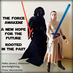 The Force Awakens Blu-ray release haiku (Macroworlder) Tags: star james force haiku disney stevenson rey ren wars lightning write hasbro awakens kylo writewithlightning