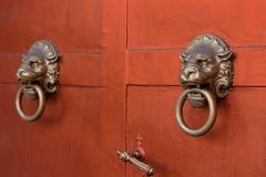 Drzwi kocioa w Goworowie (jacekbia) Tags: door red church canon lion poland polska lew detal koci drzwi mazowsze czerwony lwy 1100d goworowo