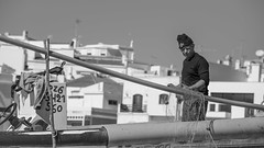 Fisherman (DC P) Tags: old sea people blackandwhite bw white black abandoned portugal nature monochrome beautiful lines canon vintage de landscape boat is blackwhite fantastic fisherman noir ship fishermen view outdoor ships wide award wideangle line adventure national passion sail 5d addicted usm sailor algarve formosa parc ria mkiii ef70200mm f4l bej photoadd