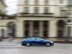 Tesla Model S (alessiochiolo) Tags: auto street city blue light italy usa motion green art cars smart car wheel sport electric speed torino photography drive design us cool movement model italian perfect energy long exposure day driving all tech good metallic side performance perspective battery engine engineering polish s automotive super center explore american driver material motor piazza speedy panning technique powerful torque macchina supercar tesla cityview autopilot sportcar carporn acceleration nooil