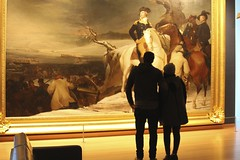 Before George Washington (Read2me) Tags: she art silhouette museum painting mfa couple ge pree cye thechallengefactory frombehindcandid