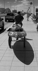 fish shadow (Fer Gonzalez 2.8) Tags: street people coast blackwhite kayak shadows citylife beachlife mdq leicadlux4