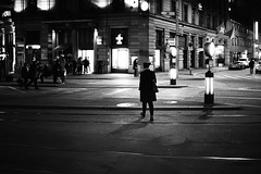 @night (gato-gato-gato) Tags: street leica bw white black classic film blanco monochrome analog person schweiz switzerland flickr noir suisse strasse zurich negro streetphotography pedestrian rangefinder human streetphoto manual monochrom zrich svizzera weiss zuerich blanc m6 manualfocus schwarz ch wetzlar onthestreets passant mensch sviss leicam6 zwitserland isvire zurigo streetphotographer fussgnger manualmode zueri strase filmisnotdead streetpic messsucher manuellerfokus gatogatogato fusgnger leicasummiluxm35mmf14 gatogatogatoch wwwgatogatogatoch streettogs believeinfilm