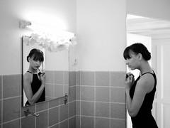 402 (Daniel Hammelstein) Tags: camera blackandwhite bw woman monochrome beauty female lumix photography model flickr fotografie image scene best panasonic explore story 17 20mm mft primelens schwarzweis microfourthirds
