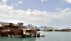 MIA QATAR (Akrem_Sakka) Tags: sky water boat seaside nikon waterfront outdoor corniche mia doha qatar d4