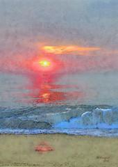 sunrise surf (Bill Sargent) Tags: ocean sunset sea beach photomanipulation photoshop sunrise surf capecod cape cod