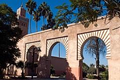 Marrakech- Moschea di Koutoubia (rosella sale) Tags: africa travel alberi islam marocco marrakech viaggi citt koutoubia archi moschea religione musulmani minaretto moscheadikoutoubia