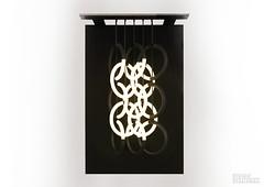 Light Hearted (Studio Stallinga) Tags: sculpture black art painting circle movement pattern tubes symmetry canvas rings fluorescent lamps henk respiration stallinga