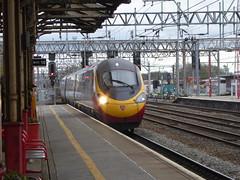 390135 arrives at Crewe (18/4/16) (*ECMLexpress*) Tags: west coast trains class virgin crewe emu 390 pendolino wcml 390135