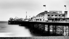 I no longer reflect on what could have been [Explored] (Howard Sandford) Tags: blackandwhite bw water brighton blurred brightonpier palacepier ndfilter canonfd28mmf28