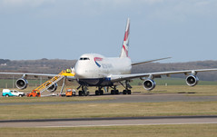 G-BYGC (aitch tee) Tags: aircraft maintenance boeing britishairways airliner walesuk cardiffairport b747400 bamc gbygc maesawyrcaerdydd cwlegff