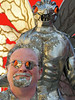 Mothman and I (kevin63) Tags: statue photoshop manipulated photo westvirginia mothman lightner pointpleasant