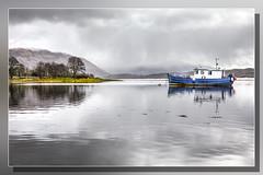 Blue Boat Loch Etive