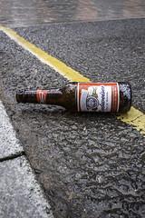 Gutter drink (tootdood) Tags: street wet rain manchester bottle drink jersey booze gutter budweiser ancoats canon70d