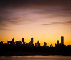 Melbourne silhouette - Explored 30.4.16 (Trace Connolly) Tags: city silhouette sunrise canon buildings landscape sigma australia melbourne victoria explore portmelbourne cityskyline portphillipbay explored melbourneskyline canon7d sigma1750f28exdcoshsm
