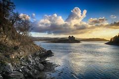 Loch Moidart south channel (OutdoorMonkey) Tags: sunset sea cloud evening coast scotland seaside track hiking path walk bluesky hike route coastal coastline seashore moidart castletioram lochmoidart silverpath