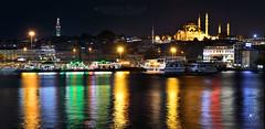 Eminonu night panorama (Jos M. F. Almeida) Tags: summer panorama night turkey august istanbul tryp istambul eminonu 2015 turqia