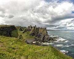 Dunluce Castle (andreasvdwal) Tags: ocean ireland sea sky panorama castle landscape coast cliffs dunlucecastle northireland giantcausewayroad