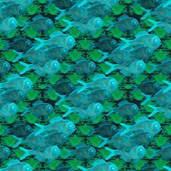 image (mcintyre.arts) Tags: fish color art water beauty fashion watercolor design pattern fineart aquatic undersea aquaticlife textiledesign textiledesigner