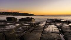 Norah Head sunrise 1 (dave.gti) Tags: ocean lighthouse seascape nature sunrise rocks select norahhead