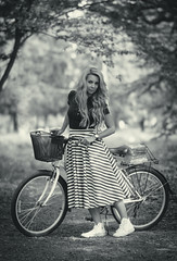 DSC05395 (Pavel Valchev) Tags: wood trees portrait woman fashion bicycle lady outdoor sony cycle portraiture mf casual charming 85 walimex beatiful slt a57 rokinon