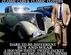 Classic cars ver 3 Tweed - Twill clothes  part 8 (Make Oxygen... Kill Co2...Plant More Trees) Tags: auto newzealand christchurch cars car canon vintage clothing classiccar nelson auckland nz wellington vehicle dunedin kiwi napier cavalry tweed houndstooth kiwiana twill tweedjacket tweedcoat cavalrytwilltrousers cavalrytwill