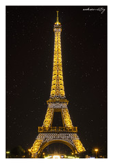Starry With & Eiffel Tower (ankur.mistry) Tags: city longexposure light summer vacation paris france tower architecture night canon stars star europe eiffel