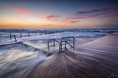 Swept (Crouchy69) Tags: ocean sea sky seascape beach water pool clouds sunrise landscape dawn coast waves sydney australia avalon