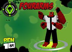 Minecraft Ben 10 - Fourarms (Fryingaaaaaa) Tags: four arms ben 10 rig ben10 fourarms omnitrix minecraft