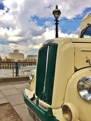 Vintage ice cream van on the Embankment (35mmMan) Tags: cameraphone city urban london ice cream southbank commercial morris van embankment se1 iphone