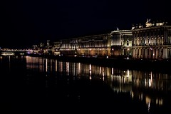 Neva river .. St Petersburg (immortality00) Tags: light reflection building night river dark stpetersburg russia neva thegypsy immortality00