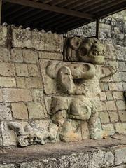 """Copan Ruinas: un des deux jaguars.  Mais c'est la Panthère Rose ! ;) <a style=""""margin-left:10px; font-size:0.8em;"""" href=""""http://www.flickr.com/photos/127723101@N04/26551112005/"""" target=""""_blank"""">@flickr</a>"""