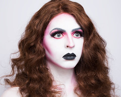 Ivory (UnknownChese) Tags: red woman brown white man black hair drag makeup dragqueen androgyny androgynous