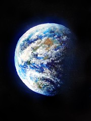 Planet Earth. Space beauty (Sofia Metal Queen) Tags: art beautiful beauty painting artwork earth space outerspace universe spaceart sofiagoldberg