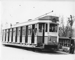 Remembering Sydneys Trams - P-class. 1607 stands at the top of the Pitt Street ramp. (john cowper) Tags: sydney tram points newsouthwales trams terminus pittstreet 1607 pclass throwoverlever railwaycolonnade