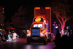 Mack in Paint the Night at Disneyland (GMLSKIS) Tags: mack cars disney california amusementpark anaheim disneyland paintthenight parade