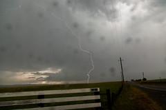 Close CG Lightning Strike (Sebastian Hobbs) Tags: california road storm beautiful rain hail clouds canon dark landscape amazing hill boom valley thunderstorm lonely lightning thunder cloudscape stormchasing goldenstate 5dmarkii