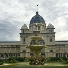 iPhone shot of this iconic building in Melbourne - the Royal exhibition Building. A UNESCO heritage site (PsJeremy) Tags: first parliament historic unescoheritage
