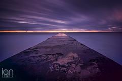Purple Concrete Jetty (ianbrodie1) Tags: longexposure cloud seascape sunrise concrete pier nikon purple 10 jetty northumberland stop d750 haida blyth