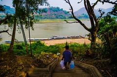 Down to the Mekong (Arbron) Tags: river la laos luangprabang mekongriver louangphabang asia2015