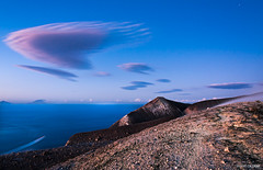 Clouds (Massilo) Tags: blue red sea cloud clouds nuvole mare nuvola blu sicily rosso sicilia vulcano eolie isole