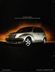 Pub CHRYSLER PT Cruiser (Lancement en France : Septembre 2000) (xavnco2) Tags: auto france cars car ads advertising automobile 2000 chrysler pt werbung publicit cruiser